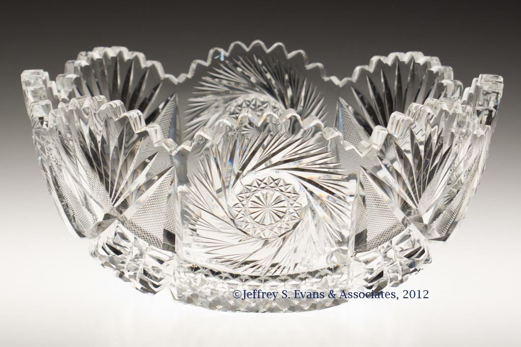 "23: FRY ""WILHELM"" CUT GLASS BOWL"