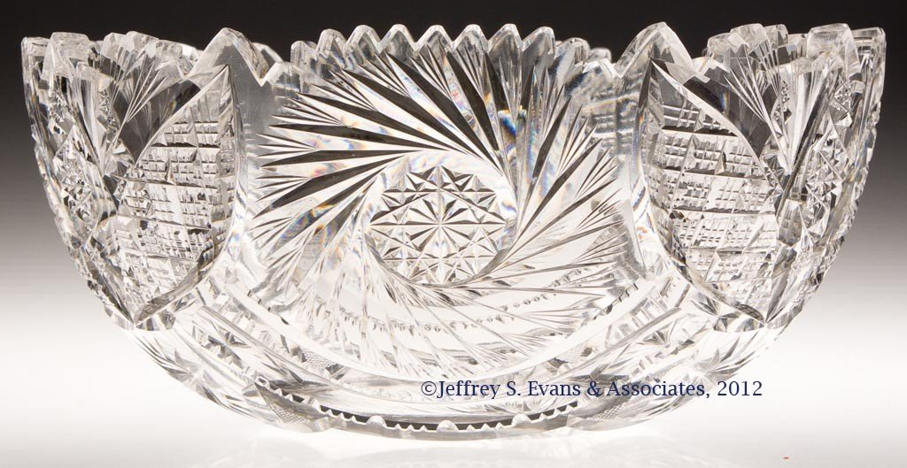 25: AMERICAN BRILLIANT CUT GLASS BOWL