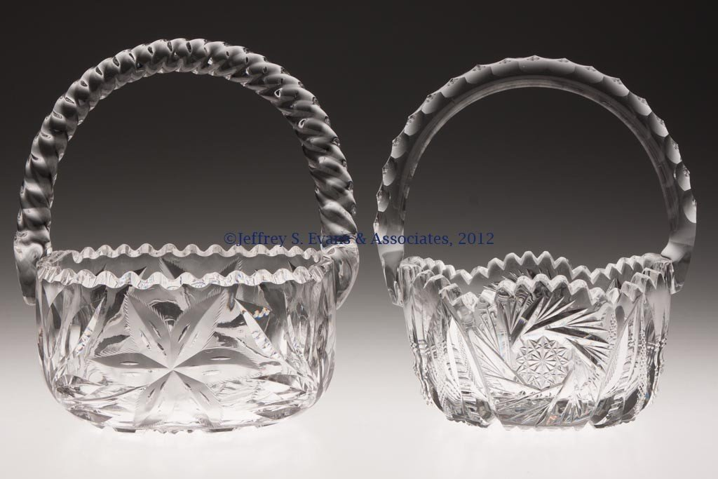 28: FRY AND OTHER CUT GLASS BASKETS, LOT OF TWO