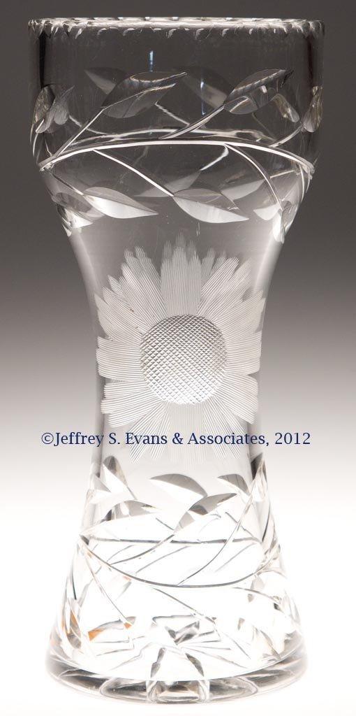 38: FRY CUT GLASS VASE