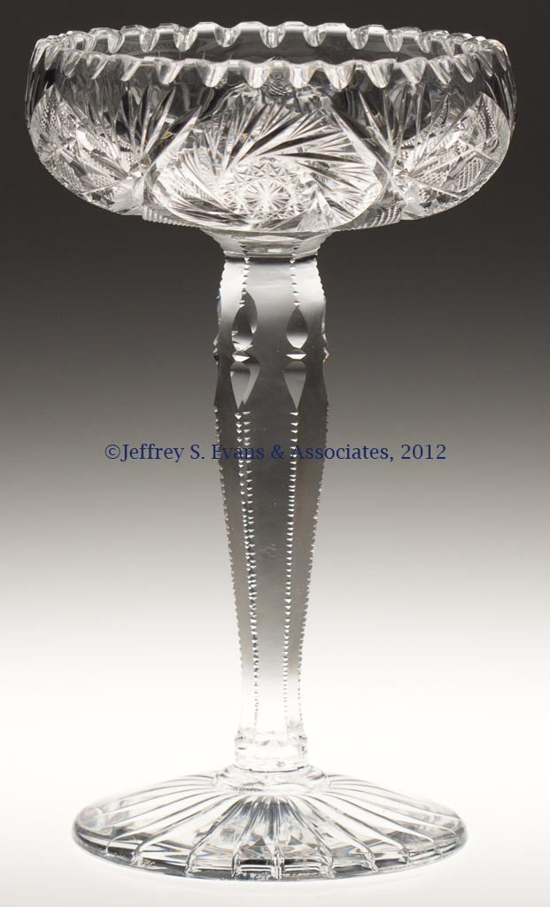 40: AMERICAN BRILLIANT CUT GLASS COMPOTE