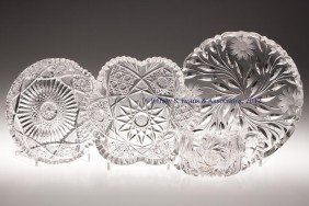 FRY CUT GLASS ARTICLES, LOT OF FOUR