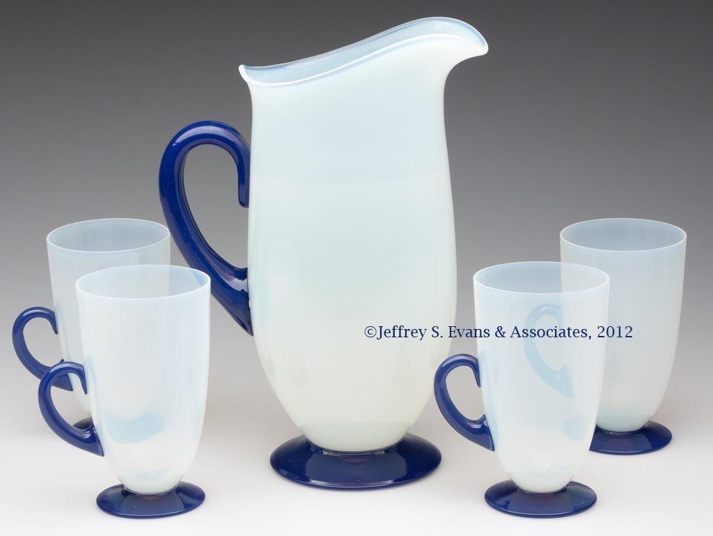 78: FRY ART GLASS FIVE-PIECE LEMONADE SET