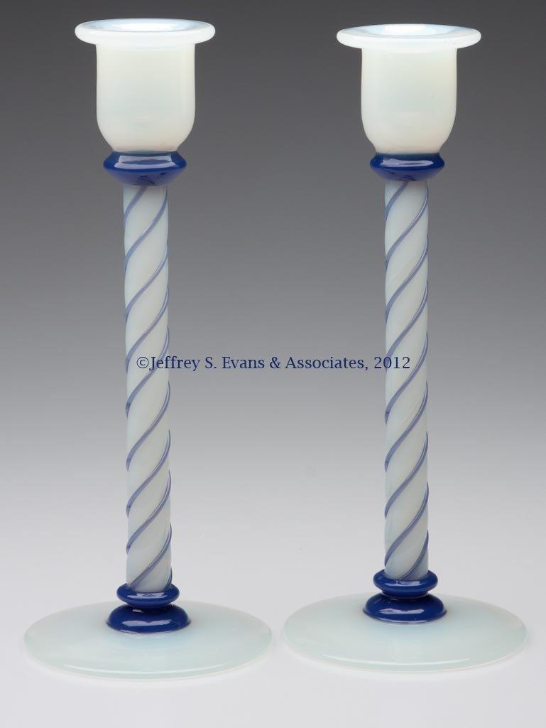 79: FRY ART GLASS #1103 CANDLESTICKS