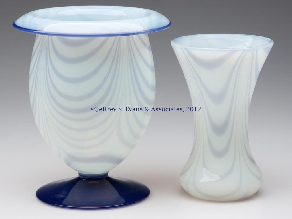 81: FRY ART GLASS VASES, LOT OF TWO