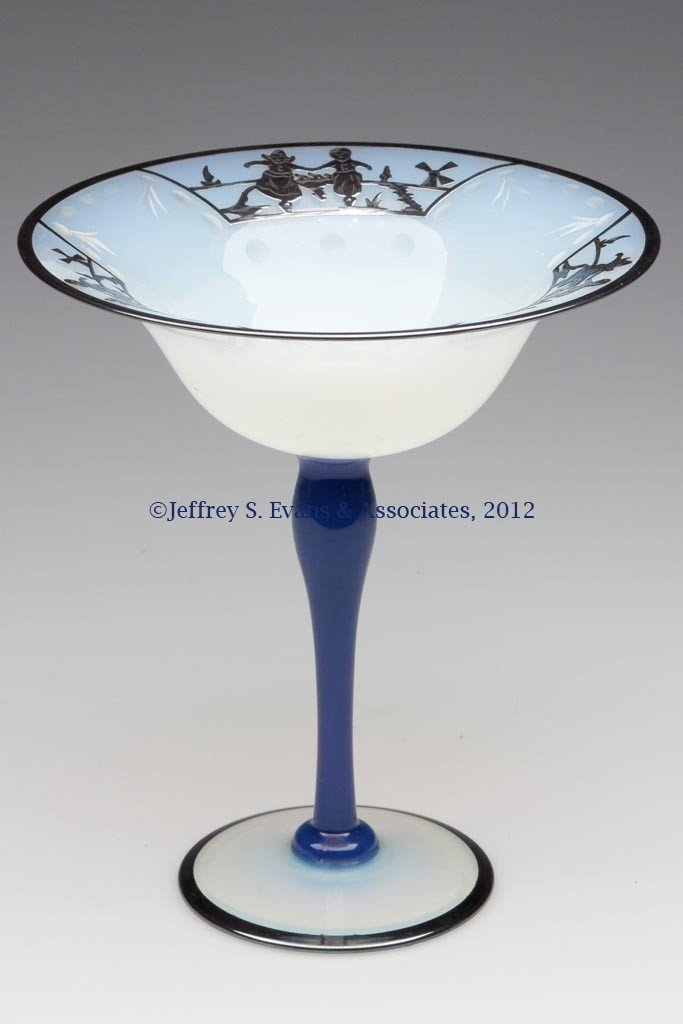 93: FRY ART GLASS #2502 COMPOTE