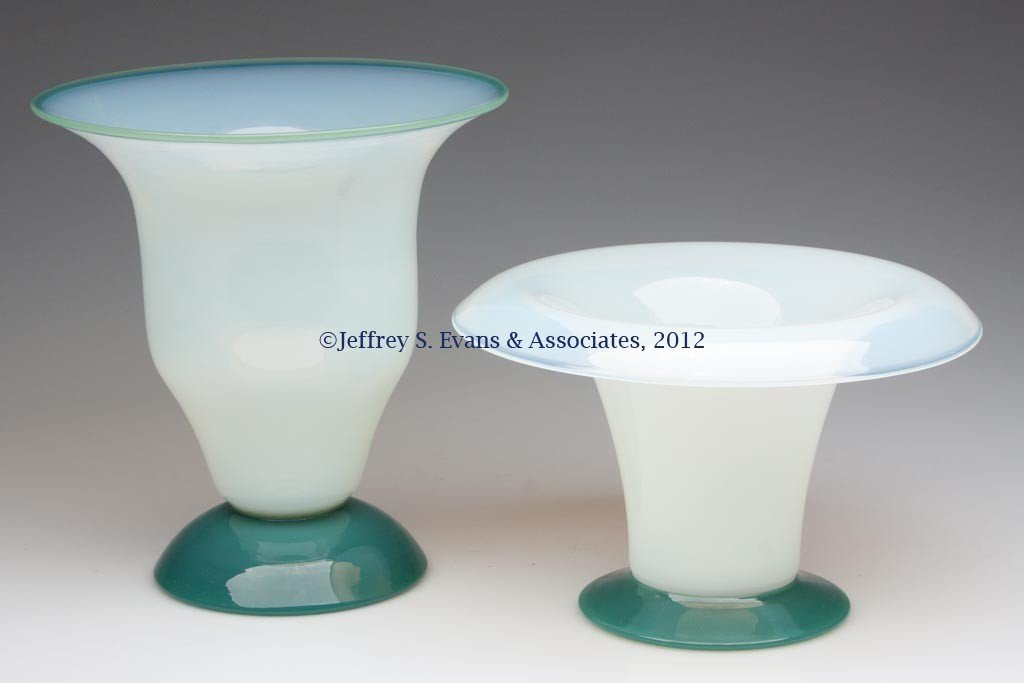 97: FRY ART GLASS VASES, LOT OF TWO