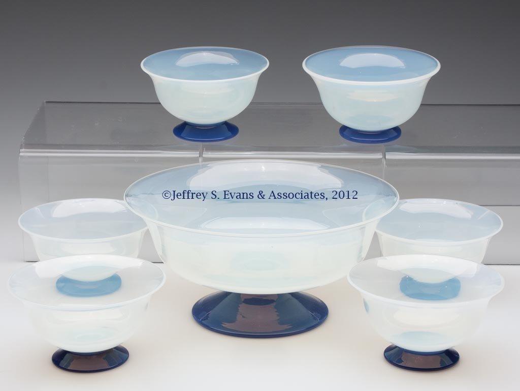 107: FRY ART GLASS BERRY SET