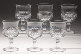 HAWAIIAN LEI GOBLETS, SET OF SIX