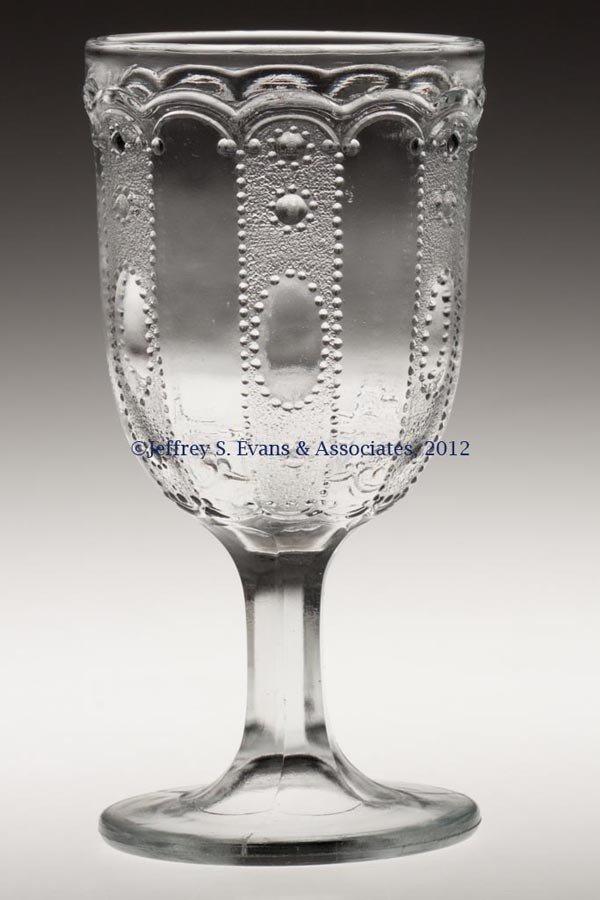 574: KANSAS / JEWEL AND DEWDROP CHAMPAGNE GLASS