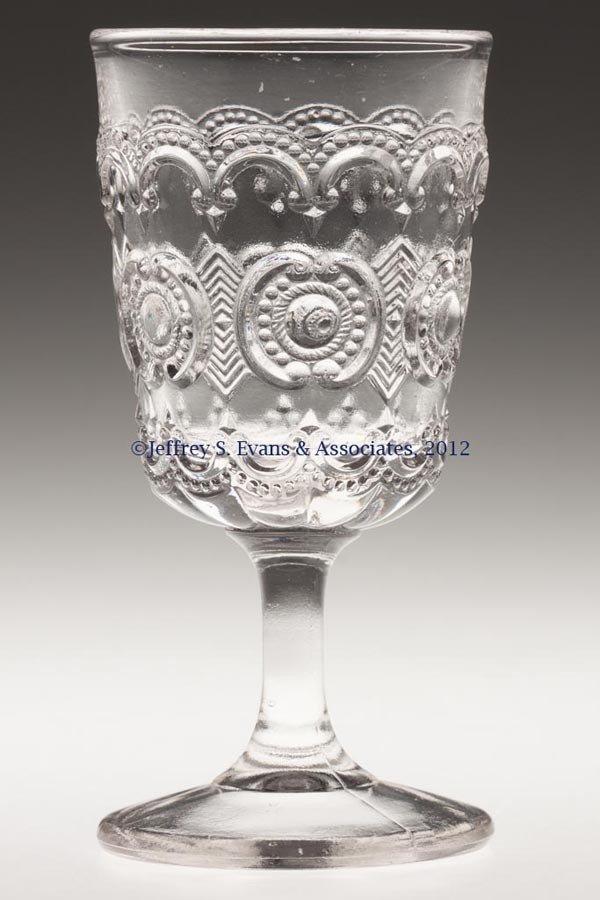 591: TENNESSEE / JEWEL AND CRESCENT WINE GLASS
