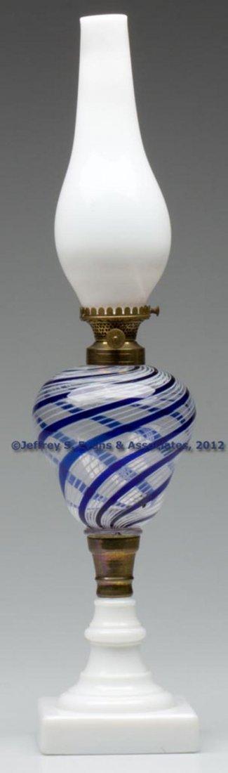 6: LATTICINIO STRIPE FONT STAND LAMP