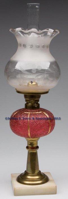 PANELED OVERSHOT STAND LAMP
