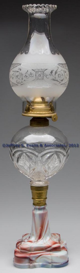 55: DIAMOND AND LOOP PANEL STAND LAMP