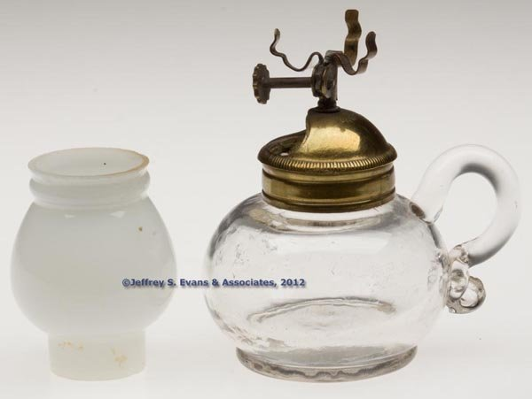 "134: ""UNION PATENT"" MINIATURE FINGER LAMP"