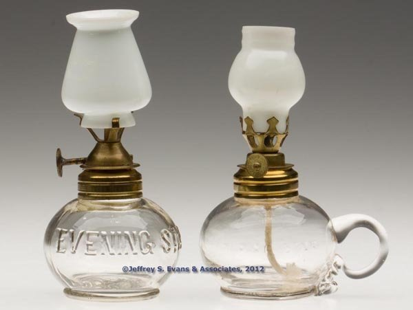 """137: """"EVENING STAR"""" MINIATURE LAMPS, LOT OF TWO"""