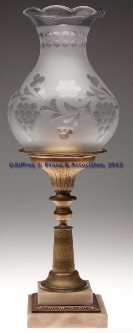 155: BRASS SOLAR STAND LAMP