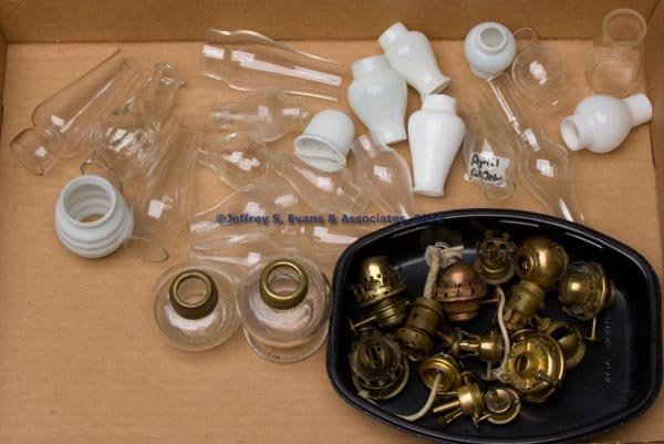 168: VARIOUS MINIATURE LAMP ACCESSORIES, LOT OF 37