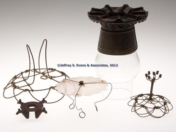 178: VARIOUS LAMP ACCESSORIES, LOT OF FIVE
