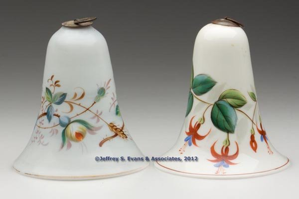 192: FREE-BLOWN AND DECORATED SMOKE BELLS, LOT OF TWO
