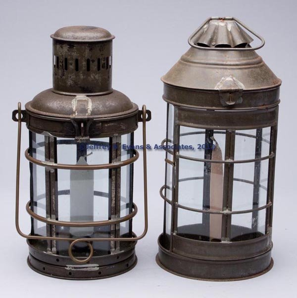 503: SHEET IRON CANDLE LANTERNS, LOT OF TWO