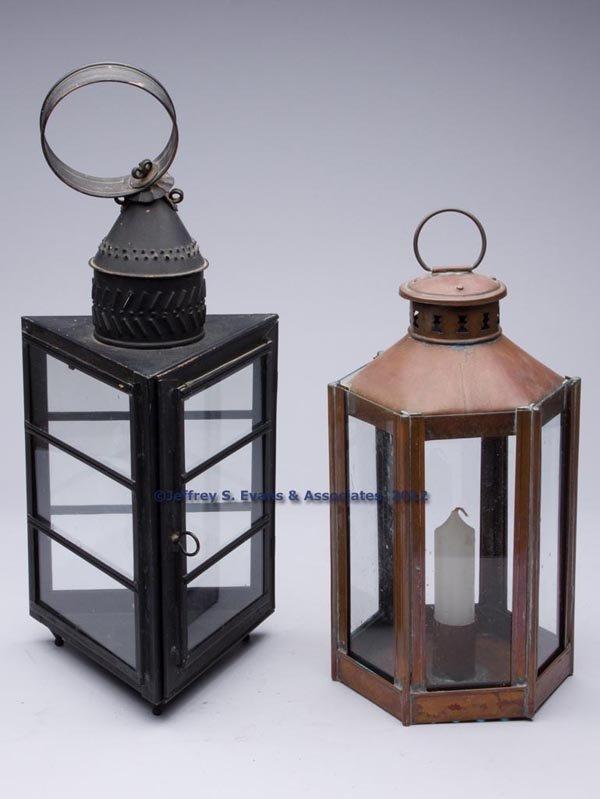 507: COPPER CANDLE LANTERNS, LOT OF TWO