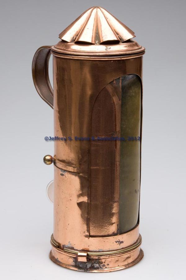 509: COPPER CANDLE LANTERN