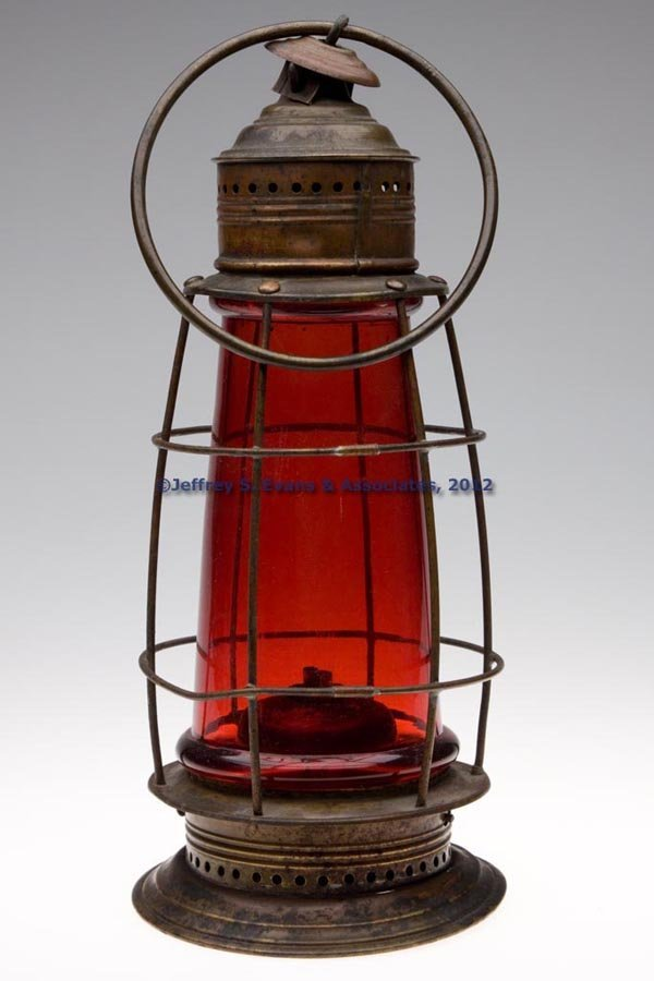 517: PIERCED BRASS AND COPPER WHALE OIL LANTERN