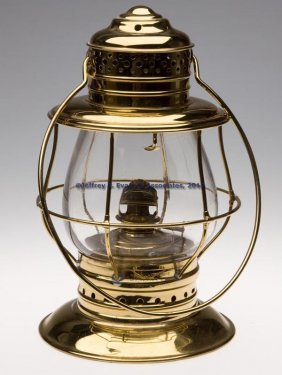 KELLY LAMP WORKS BRASS CONDUCTOR'S RAILROAD LANTER