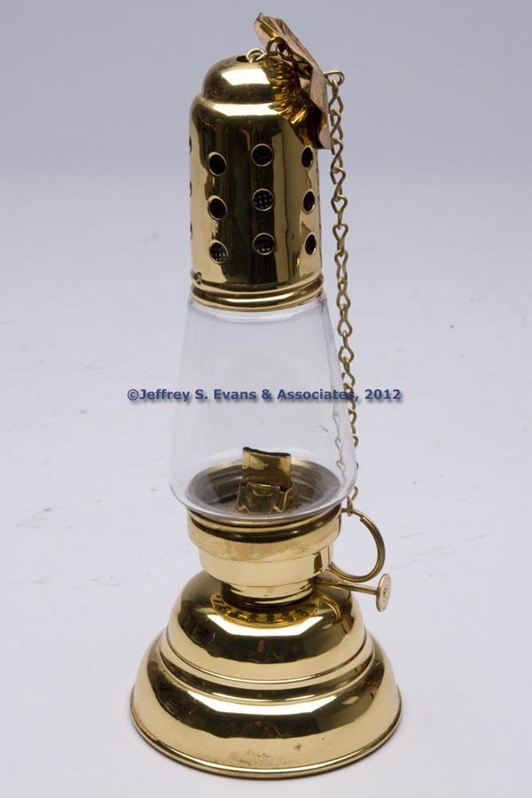602: MANHATTAN BRASS CO. BRASS HURRICANE LANTERN