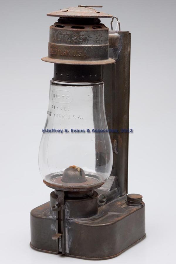 604: DIETZ NO. 25 SHEET IRON COLD BLAST WALL LANTERN