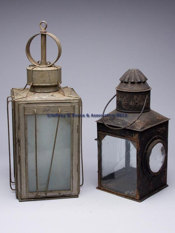 617: GALVANIZED COPPER AND SHEET IRON OIL LANTERNS, LOT