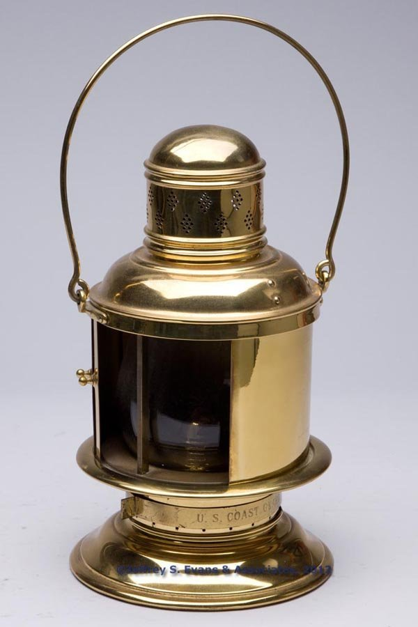 623: BRASS U. S. COAST GUARD BLACKOUT MARINE LANTERN