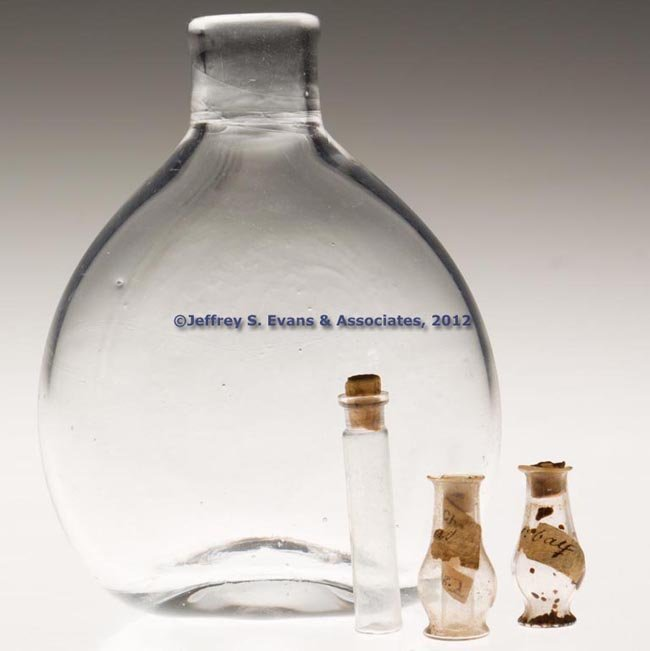 67: ASSORTED BLOWN BOTTLES, LOT OF FOUR