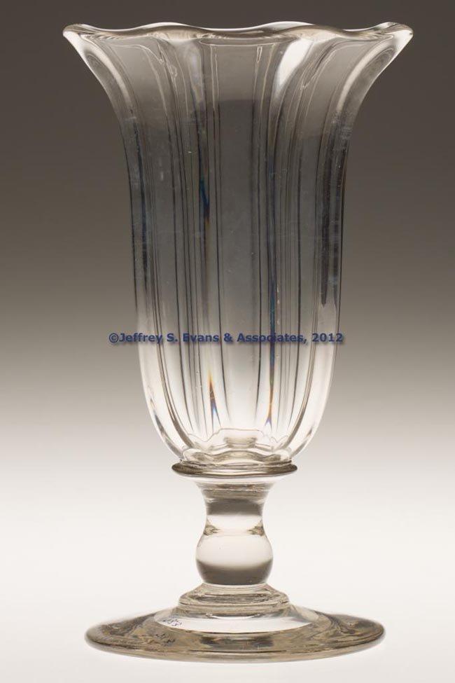 97: PILLAR-MOLDED VASE OR CELERY GLASS