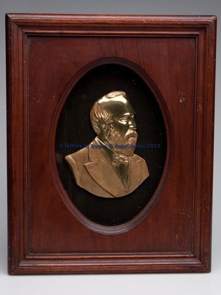 PRESIDENT JAMES A. GARFIELD MEMORIAL RELIEF BUST