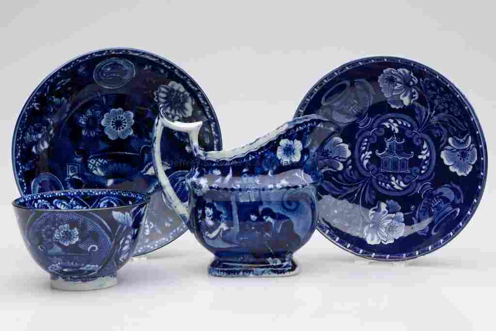 681: CLEWS STAFFORDSHIRE TRANSFERWARE ARTICLES, LOT OF