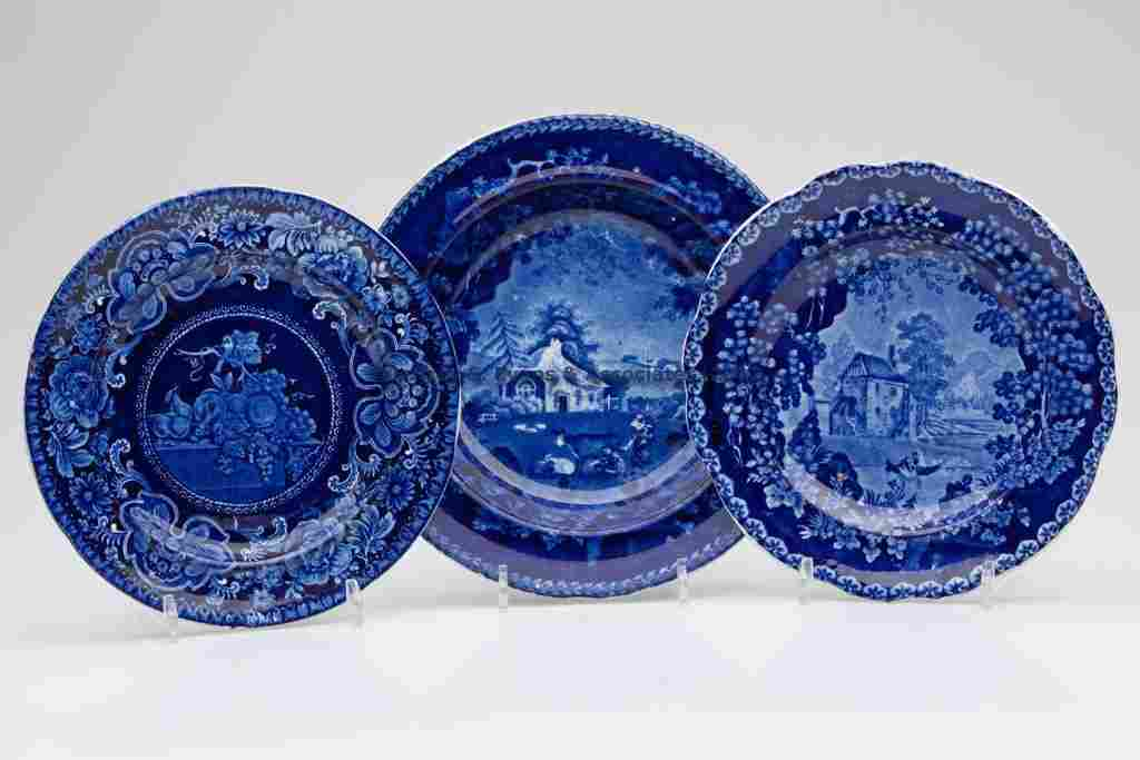 704: STAFFORDSHIRE TRANSFERWARE ARTICLES, LOT OF THREE