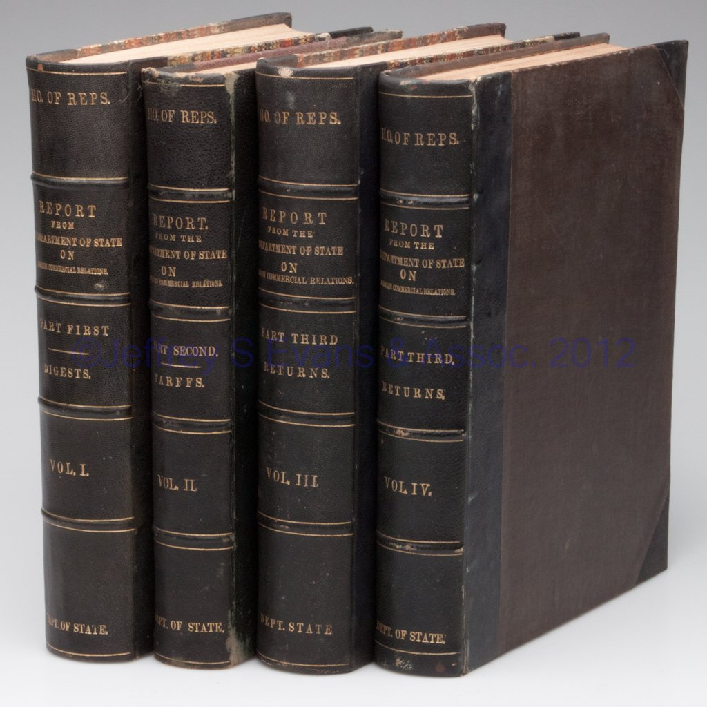8: COMMERCE - DIPLOMACY VOLUMES, SET OF FOUR