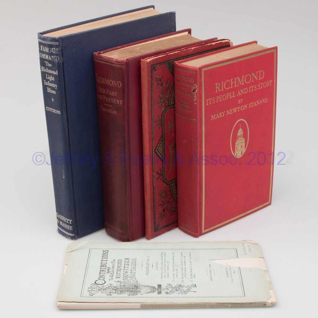 21: VIRGINIANA - RICHMOND VOLUMES, LOT OF FIVE