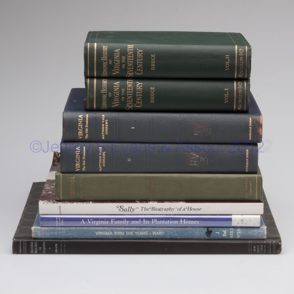 22: VIRGINIANA - GENERAL VOLUMES, LOT OF NINE