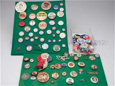 264 ASSORTED LOT OF PINBACK BUTTONS AND RELATED