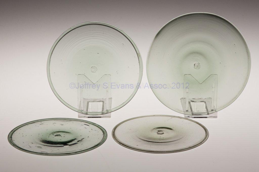 8: FREE-BLOWN WINDOW GLASS BULL'S-EYES, LOT OF FOUR