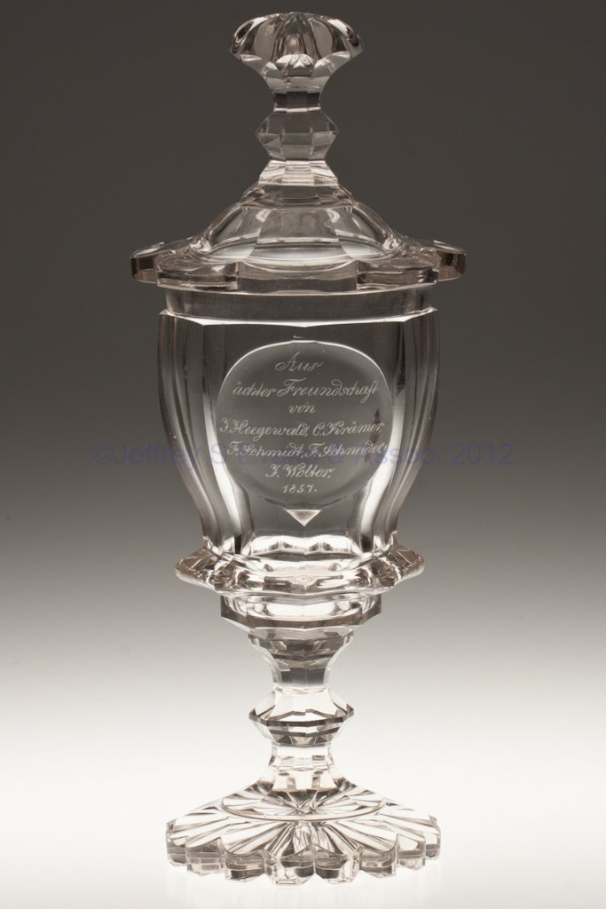 13: CUT AND ENGRAVED PRESENTATION POKAL WITH COVER
