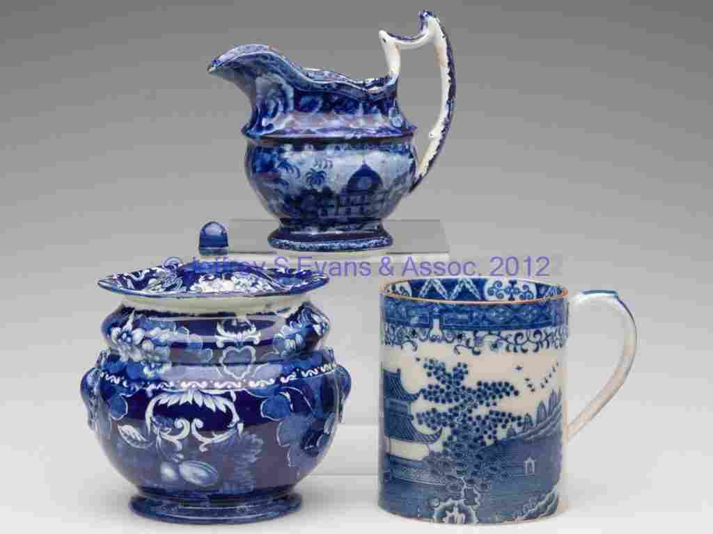 612: ASSORTED STAFFORDSHIRE TRANSFERWARE ARTICLES, LOT