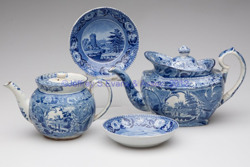 617: ASSORTED STAFFORDSHIRE TRANSFERWARE ARTICLES, LOT