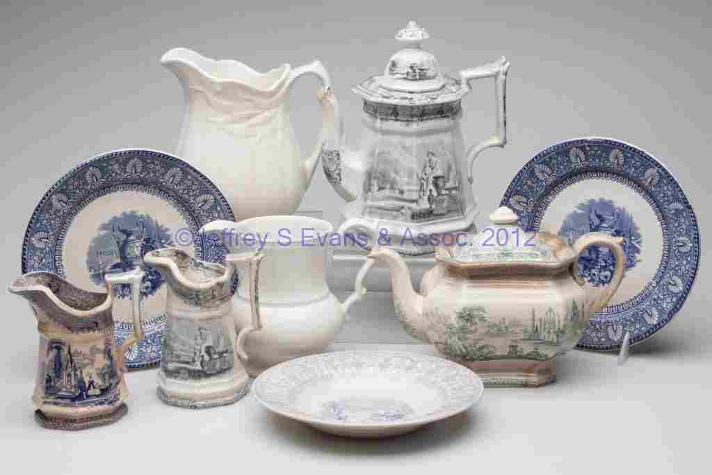 620: STAFFORDSHIRE TRANSFERWARE AND IRONSTONE ARTICLES,