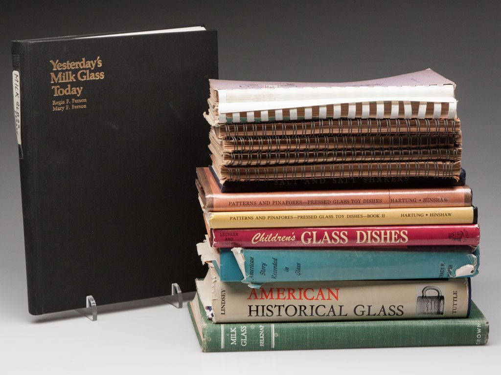5: AMERICAN PRESSED GLASS REFERENCE VOLUMES, LOT OF 14
