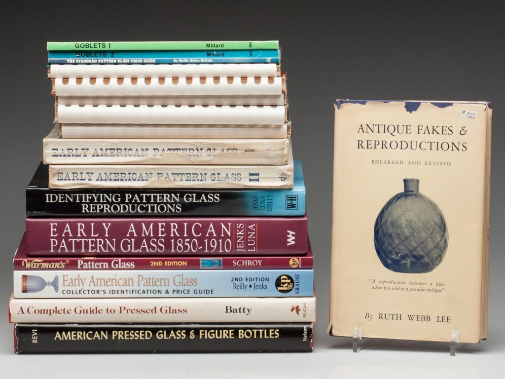 6: AMERICAN PRESSED GLASS REFERENCE VOLUMES, LOT OF 16