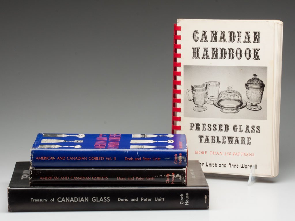 7: CANADIAN GLASS REFERENCE VOLUMES, LOT OF FOUR